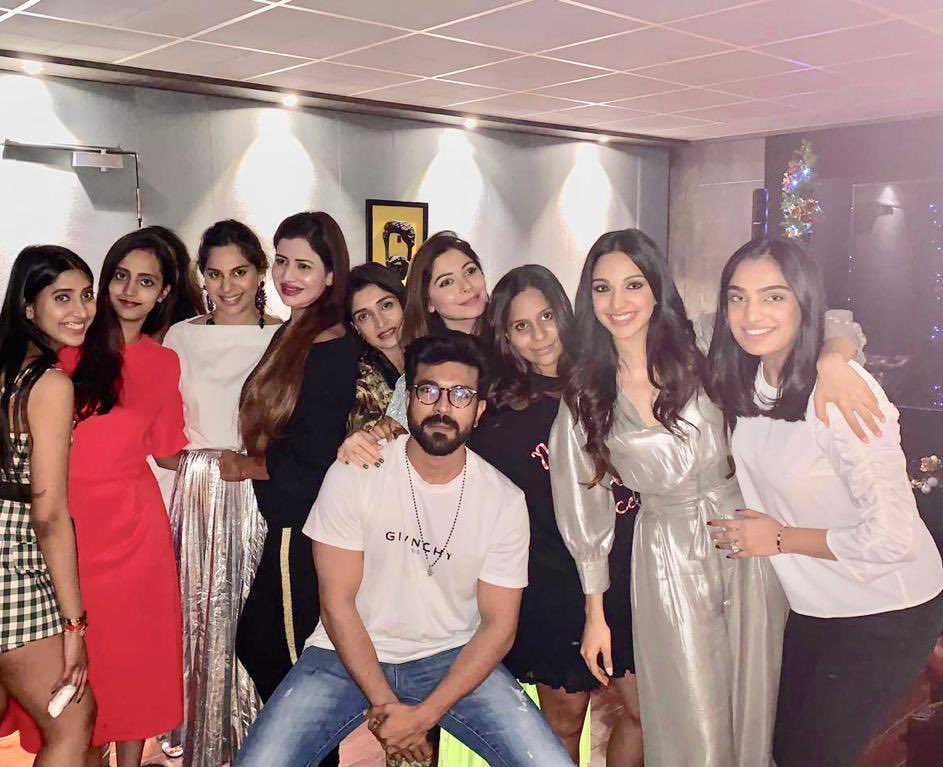 Ram Charan with Lovely Ladies without the red eye
