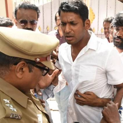 Vishal arrested by Police