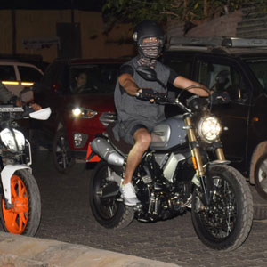 Arjun Reddy hits the streets riding his bike