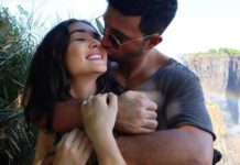 It's a beach wedding for Amy Jackson and George Panayiotou