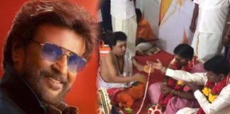 Rajinikanth Mania : Couple ties the knot at Petta premiere show