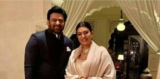 What is Prabhas doing with Miss Universe