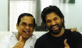 Allu Arjun pic with Brahmanandam disappoints fans!