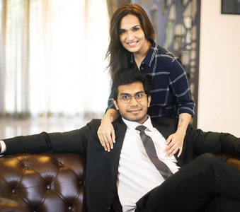Soundarya Rajinikanth with her Fiance Vishagan Vanangamudi
