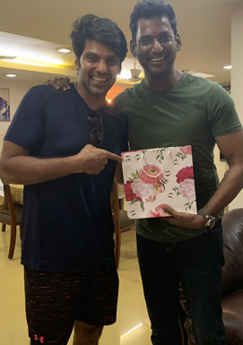 Vishal - A guest of Arya and Sayyeshaa wedding
