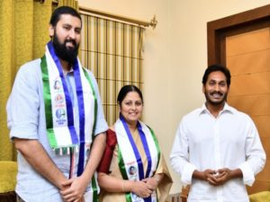 Jayasudha son to campaign for YSRCP