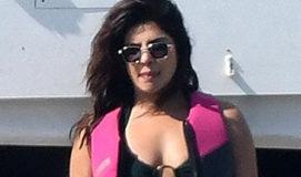 Priyanka Chopra jet ski in swim suit