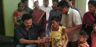 Venkatesh meets his fan suffering from Cancer