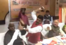 Video Viral! BJP MP beats MLA with Shoe