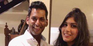 Vishal and Anisha Alla Reddy engagement today