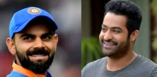 Jr NTR and Virat Kohli