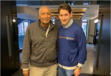 Mahesh Babu fanboy moment with legendary cricketer Andy Roberts