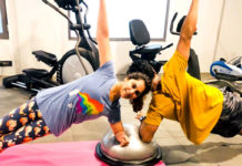 Ram Charan and his wife Upasana in Gym