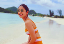 Anushka Sharma sizzles in orange bikini