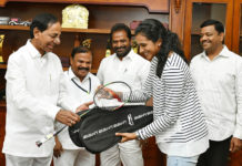 KCR And PV Sindhu