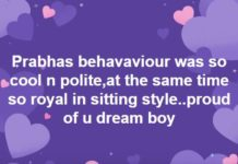 Prabhas is Sri Reddy Dream Boy