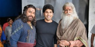 Allu Sirish with Two Megastars