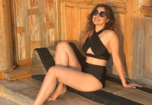 Raai Laxmi sizzles in bikini on pool side