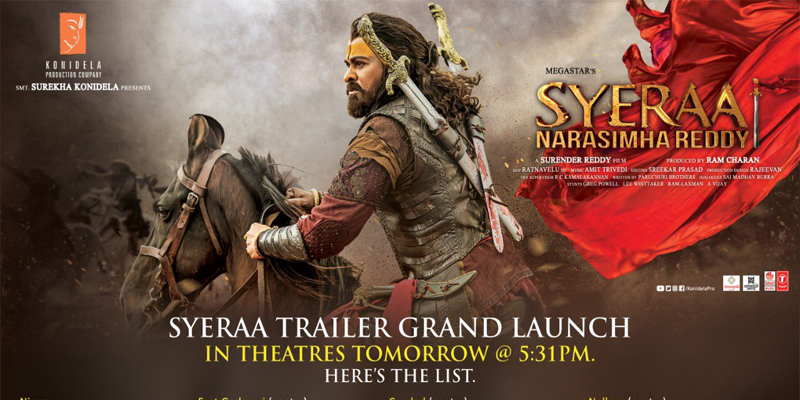 """SyeRaa"" Trailer To be launched in 93 theatres"