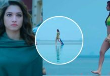 Tamannah Bhatia walks on beach in bikini