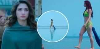 Tamannah Bhatia walks on beach in bikini