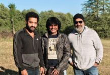 Jr NTR with Rajamouli in Bulgaria