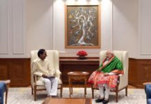 What did KCR speak with Modi in an hour-long meet?