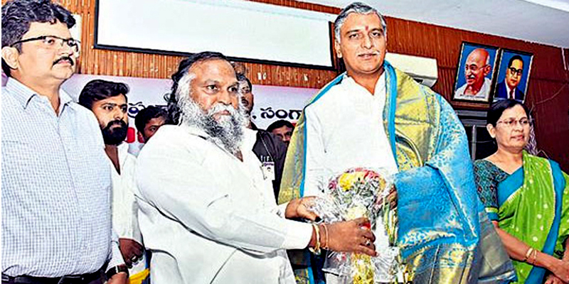 Long rivals in TRS: Jagga Reddy meets Harish Rao