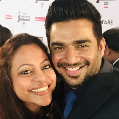 Madhavan shameless birthday wishes for Wife
