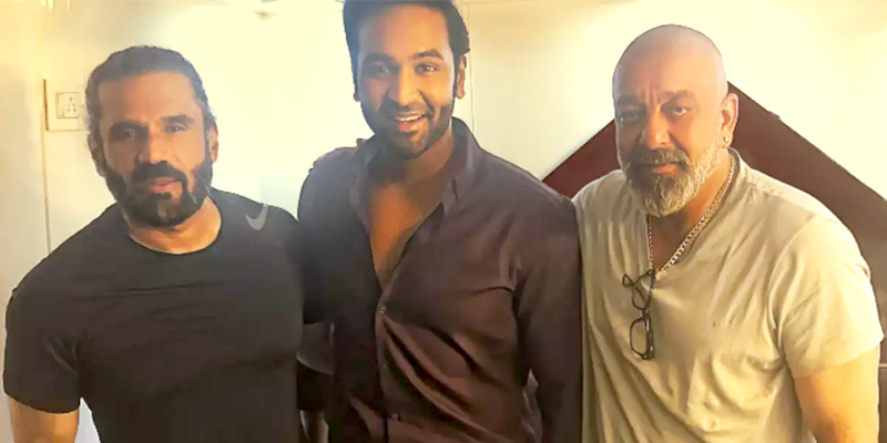 Manchu Vishnu gets Surprise Visitor Sanjay Dutt