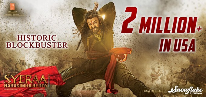 Sye Raa breaches the milestone mark of $2 Million