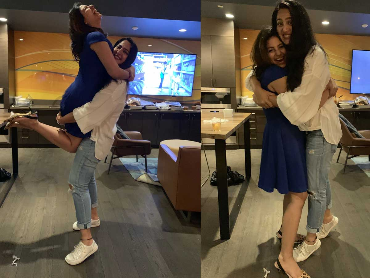 Anushka Shetty hugging and lifting BFF Anjali