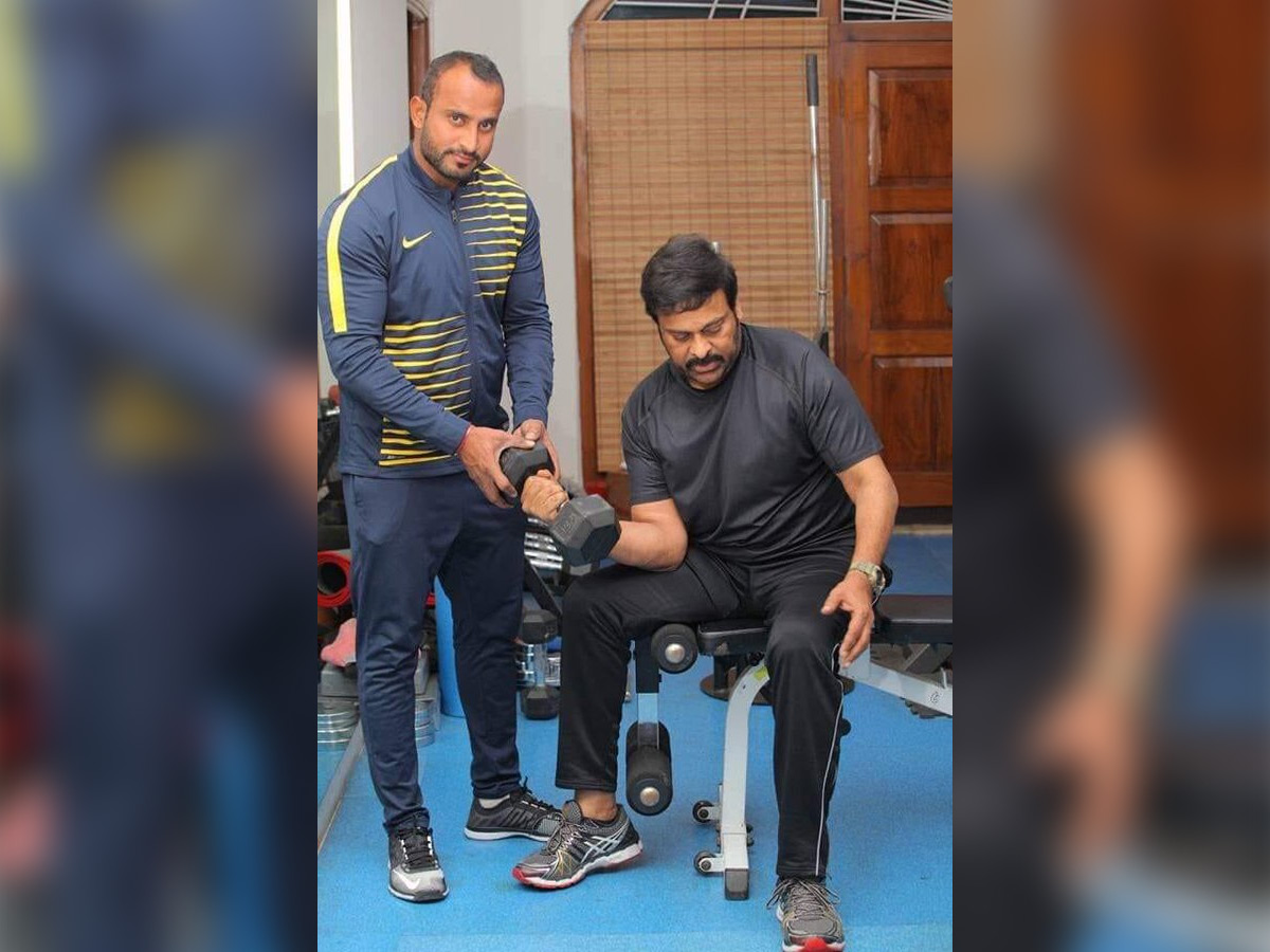 Chiranjeevi switches on to Fitness Mode, He is in the gym
