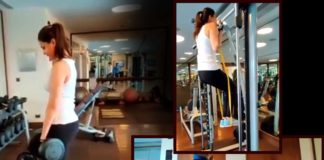 Kajal Aggarwal work out in gym