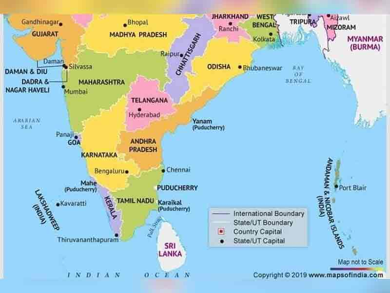 New India map: BJP leader's mistake on AP capital