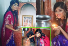 Poonam Kaur performs Shiva Pooja in Pakistan Temple