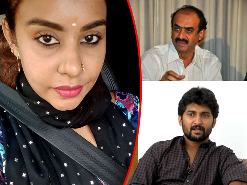 Sri Reddy comments on Suresh Babu and Nani IT Raids
