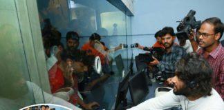 Vijay Deverakonda selling Meeku Maathrame Cheptha Tickets at IMAX