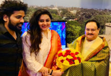 After Kaushal Manda now Namitha joins BJP