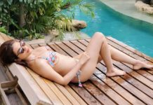Bikini Hottie Shraddha Das getting Vitamin D in Bali Sun
