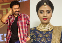 Hilarious skit between Sreemukhi and Venkatesh