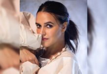 Neha Dhupia says, South hero picked up Plate first