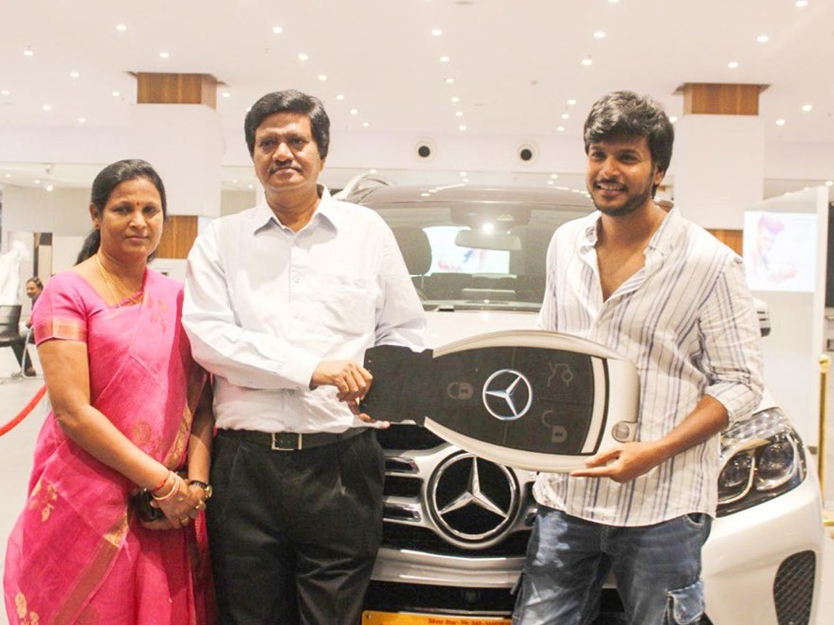 Sundeep Kishan gifts his Parents a Luxurious Benz Car