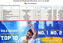 Allu Arjun film in Top 10 of the Specialized Weekend Box Office Actuals