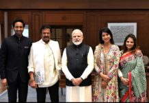 Mohan Babu family meets PM Modi