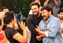Prabhas with Chiranjeevi at birthday bash
