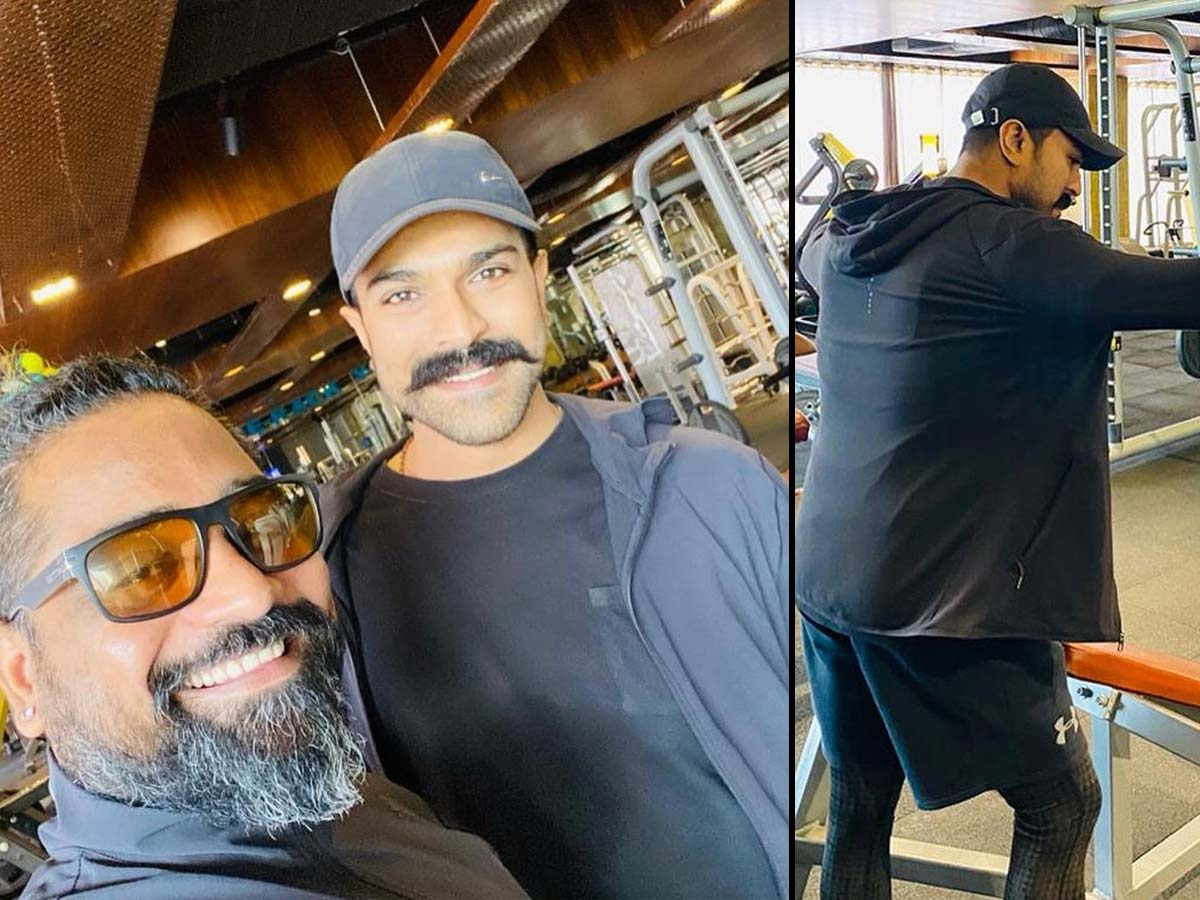 Ram Charan with RRR trainer