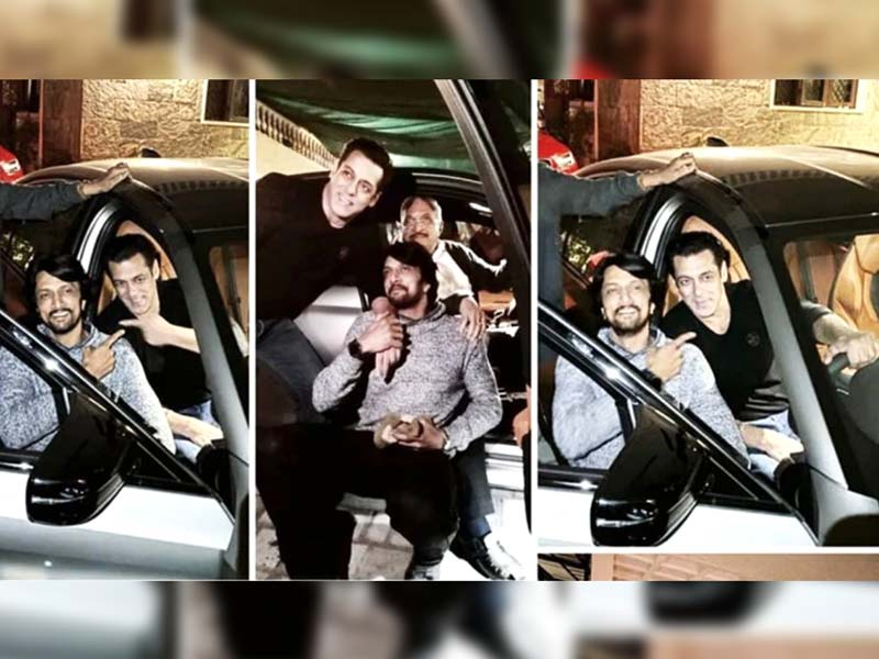 Salman Khan gifts BMW Car to Sudeep