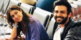 Sara Ali Khan and Kartik Aaryan lovey-dovey