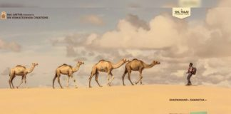 Sharwanand Jaanu First Look: Sharwanand in desert with Camels